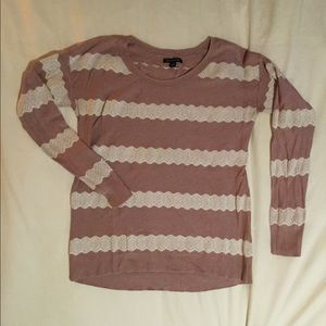 Rose colored American Eagle crew neck sweater